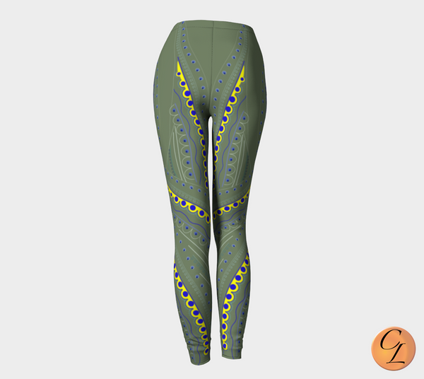Moss Blades Leggings-Leggings-Chloe Lambertin