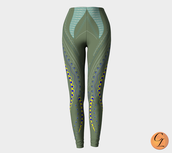 Mossy Blades Leggings-Leggings-Chloe Lambertin