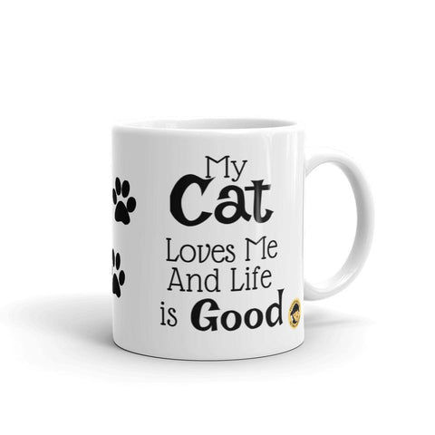 My Cat Loves Me Funny Mug.-Mug-Chloe Lambertin