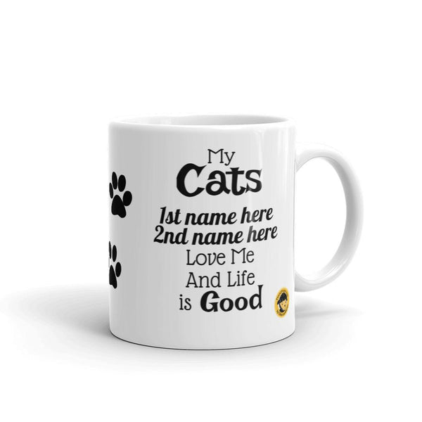My Cats Love Me (Personalized) Funny Mug.-Mug-Chloe Lambertin