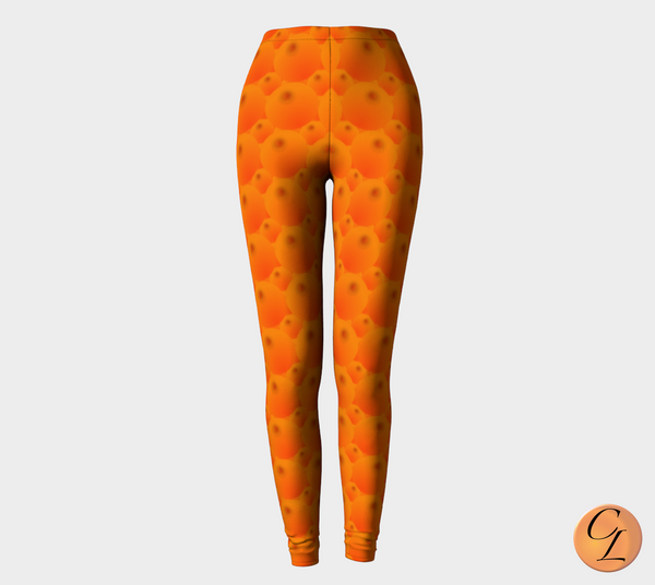 Orange Soda Leggings-Leggings-Chloe Lambertin