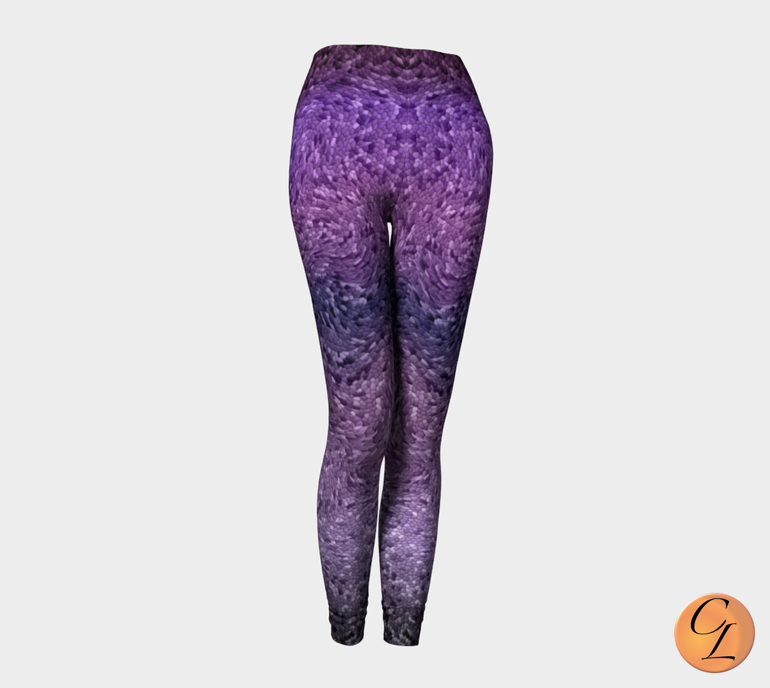 Purple Snake Leggings-Leggings-Chloe Lambertin