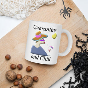 Quarantine and Chill Mug-Mug-Chloe Lambertin