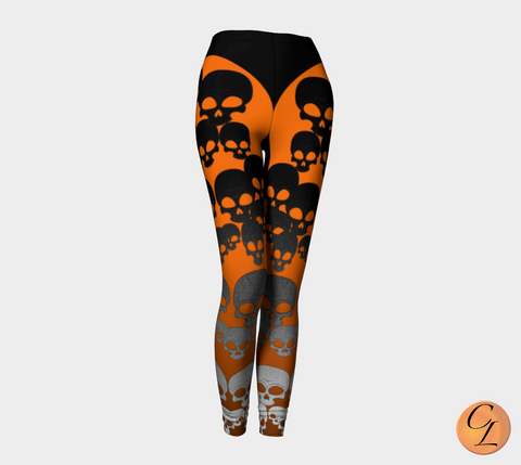 Skulls Leggings-Leggings-Chloe Lambertin