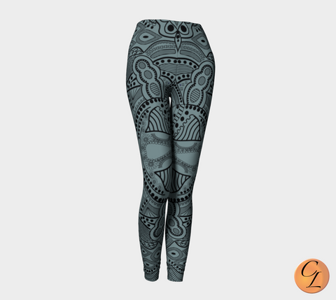 Slate Tribal-Leggings-Chloe Lambertin