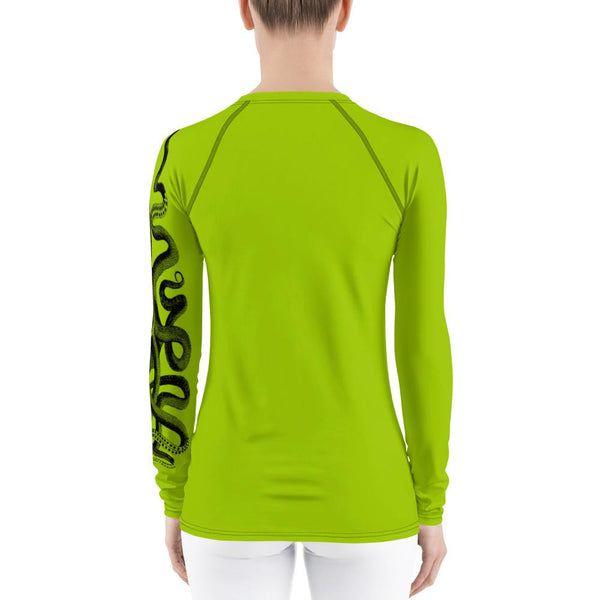 Vintage Octopus Rash Guard Women-Rash Guard-Chloe Lambertin