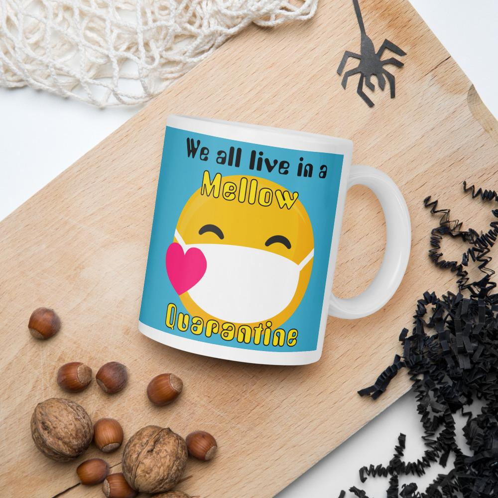We all live in a Mellow Quarantine Mug-Mug-Chloe Lambertin