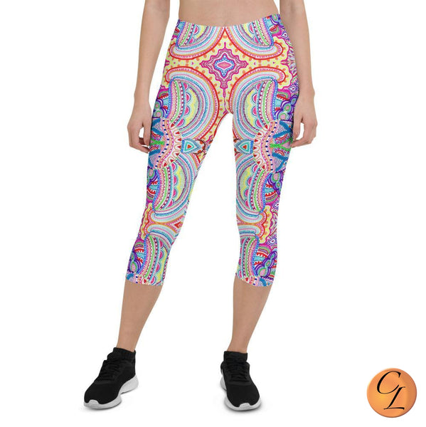Woodstock Capri Leggings, Women-Leggings-Chloe Lambertin