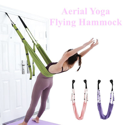 Adjustable Aerial Yoga Strap Hammock Swing
