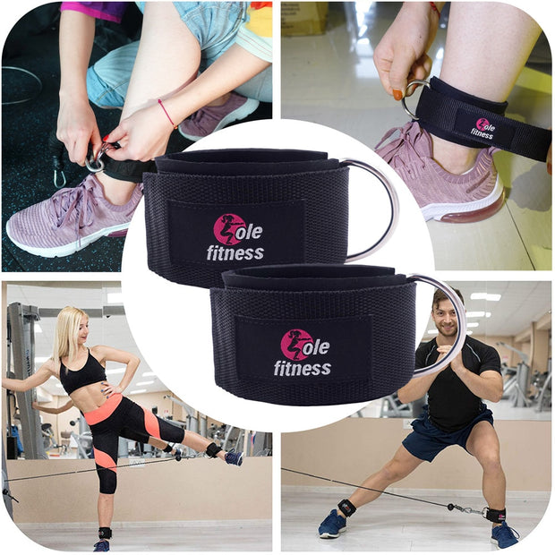 1 Pair D-Ring Ankle Straps Attachment - Fitnessster