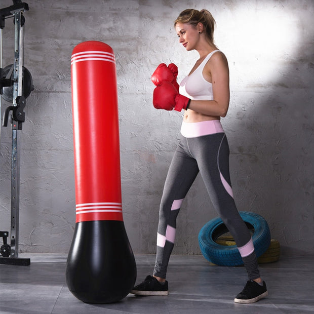 Training Fitness Vertical Inflatable Boxing Bag