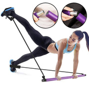 Pilates Bar Kit With Resistance Bands - Fitnessster