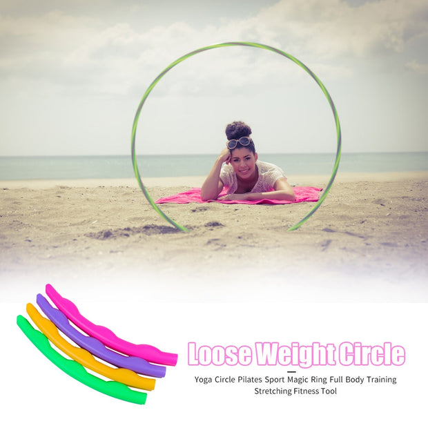 Color Wave Weighted Yoga Waist Hoops - Fitnessster