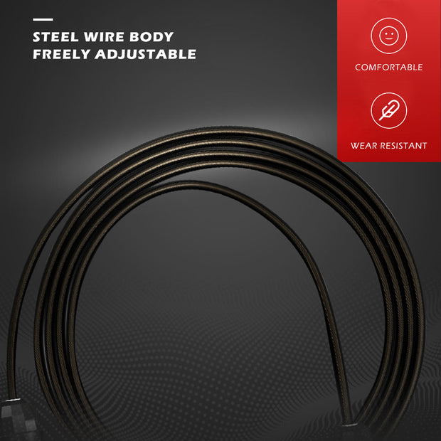Tangle-Free with Ball Bearings Rapid Speed Jump Rope - Fitnessster
