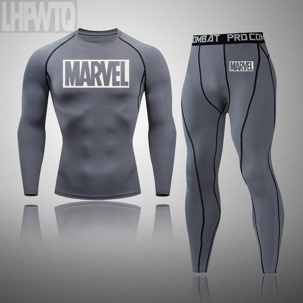 Men's Thermal Underwear Set MMA Tactics Leggings - Fitnessster