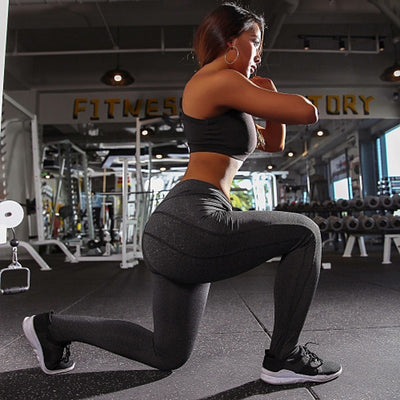Female Push up Cross V waist leggings