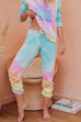 Puradress Tie Dye Flower Casual Pants