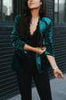 Puradress Slim Long Sleeve Velvet Blazer Jacket