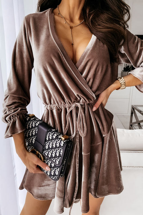 Puradress Always Chic V Neck Flannel Party Dress