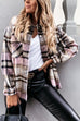 Puradress December Classic Loose Cotton Plaid Shirt Top