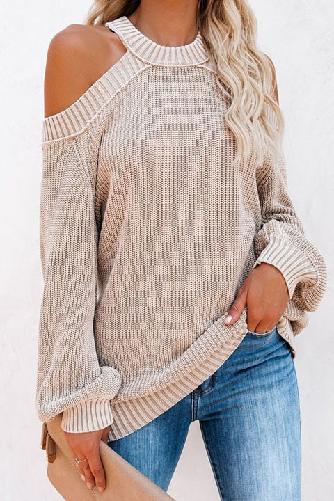 Puradress Cross Back Off Shoulder Casual Sweater