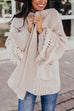 Puradress Winter Solid Tassel Sleeve Sweater Cardigan