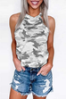 Puradress Halter Camo Loose Tops