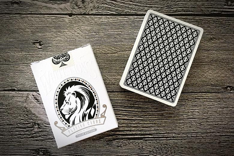 White Lions Tour Playing Cards - Black Reverse - ♦️ Markt 52 Online Shop Marketplace Playing Cards, Table Games, Stickers