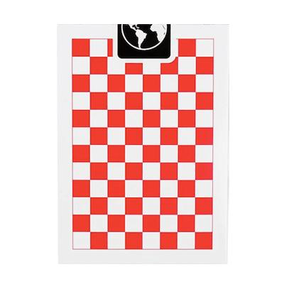 Checkerboard Playing Cards - Red - Markt 52