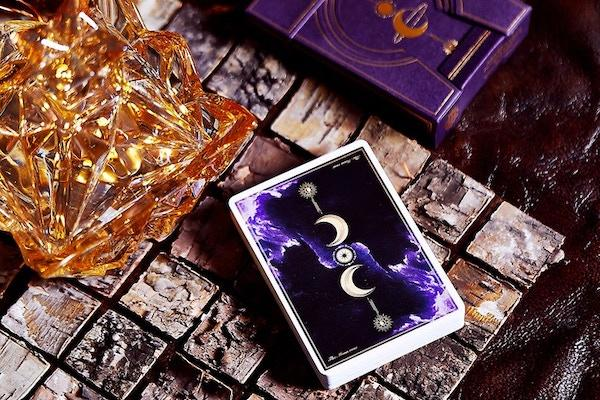 Violet Luna Moon Playing Card - ♦️ Markt 52 Online Shop Marketplace Playing Cards, Table Games, Stickers