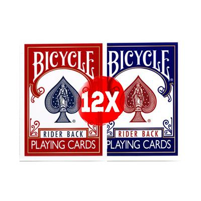 Bicycle Rider Back Playing Cards - Brick - Markt 52