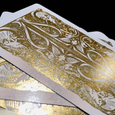 Gold Split Spades Playing Cards - Markt 52