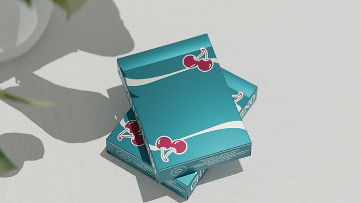 Cherry Casino Tropicana Teal Playing Cards - Markt 52