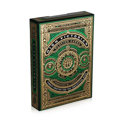 Green High Victorian Playing Cards - Markt 52