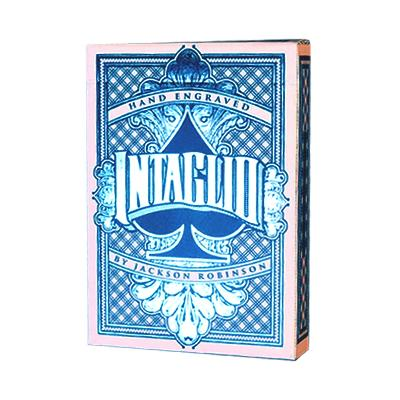 Blue Intaglio Playing Cards - Markt 52