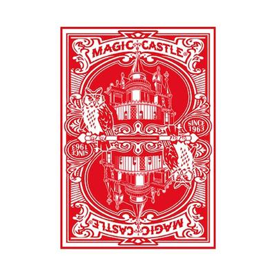 Red Magic Castle Playing Cards - Markt 52