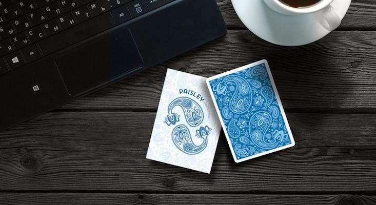 Blue Paisley Playing Cards - Markt 52
