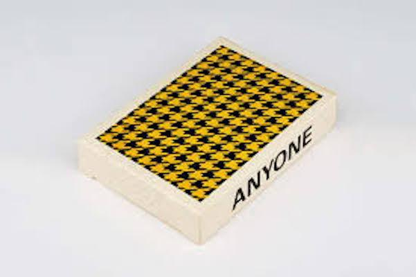 Black Yellow Houndstooth Playing Cards - Markt 52