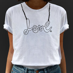 belle BRUT NAMEPLATE TEES - LOVE & HAPPINESS