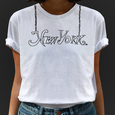 belle BRUT NAMEPLATE CITY T-SHIRT - NEW YORK, LADIES