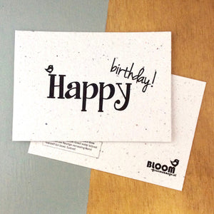 Bloom bloeikaart 'Happy Birthday'