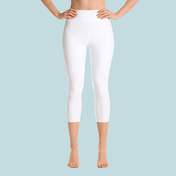 Leggings capri tiro alto blanco