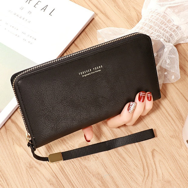 Designer Leather Long Purse