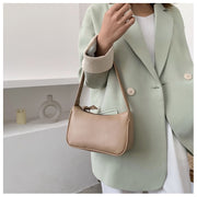 Soft Leather Retro Solid Color Handbags