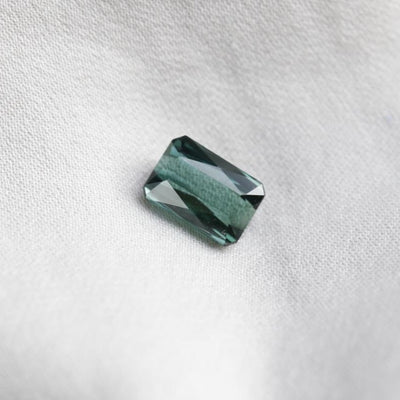 1.96cts Modified Emerald-cut Natural Bluish Green Tourmaline Loose Stone