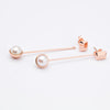 Aurora's Drop | Freshwater Pearl 925 Silver 18K Rose Gold Plated Detachable Earrings