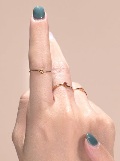 UTOPIA | Natural Coloured Sapphire 18kt Rose Gold Ring (S)