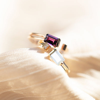 Hidden Glory | Natural Rhodolite Garnet 18kt Gold Ring
