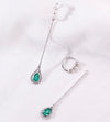 DEW | Natural Emerald, Diamond & Tiny Pearl Detachable 18kt Earrings