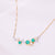 Universe | Natural Emerald, Tiny Pearl & Diamond 18kt White & Yellow Gold Necklace